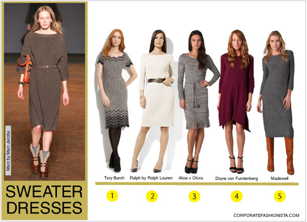 The Real Truth About Sweater Dresses Corporate Fashionista